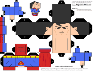 Cubeecraft de Superman. Manualidades a Raudales.