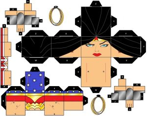 Cubeecraft de Wonder Woman. Manualidades a Raudales.