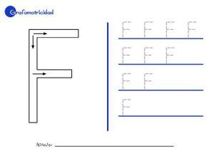 Grafomotricidad con la letras f - F.