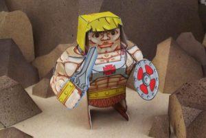 Papercraft de He-Man.