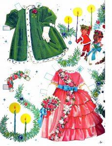 Recortable navideño de Holly. Manualidades a Raudales.