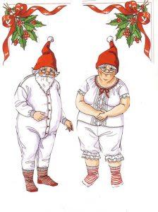 Recortable navideño de papa y mama Noel. Manualidades a Raudales.