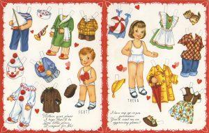 Recortables de muñecas alemanes.