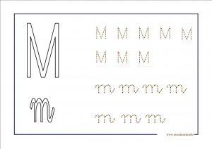 Grafomotricidad de la letra m. Manualidades a Raudales.