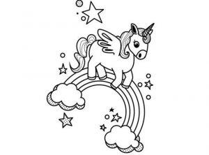 Ficha para colorear de Unicornios. Manualidades a Raudales.